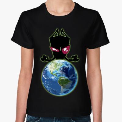 Женская футболка Захватчик Зим