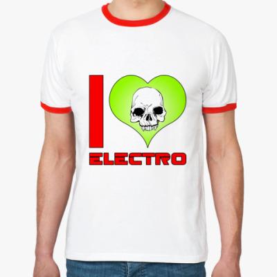 Футболка Ringer-T I love electro