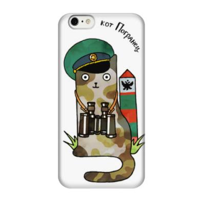 Чехол для iPhone 6/6s Кот пограничник охраняет границу