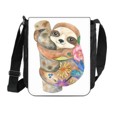 Сумка на плечо (мини-планшет) Милый ленивец