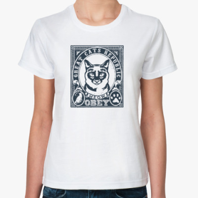 Классическая футболка Подчиняйся коту! Подчинись!!!