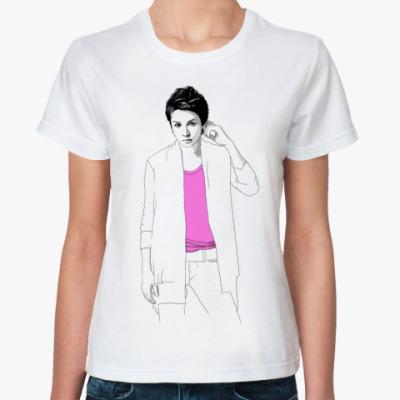 Классическая футболка Ж.ф. Тома в розовой футболке
