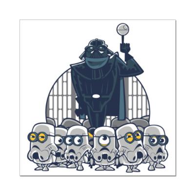 Наклейка (стикер) Darth Vader & Minions