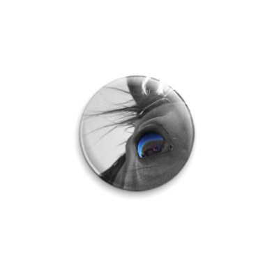 Значок 25мм  глаз лошади