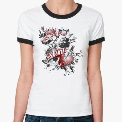 Женская футболка Ringer-T Me style