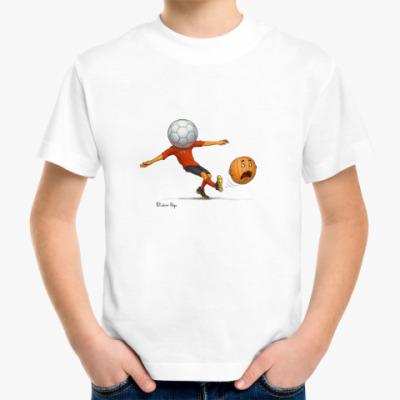 Детская футболка Тыква футбол soccer