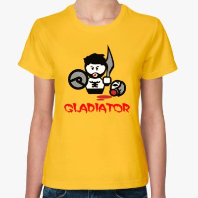 Женская футболка Гладиатор