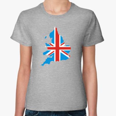 Женская футболка  Великобритания