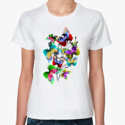 Классическая футболка Летние бабочки