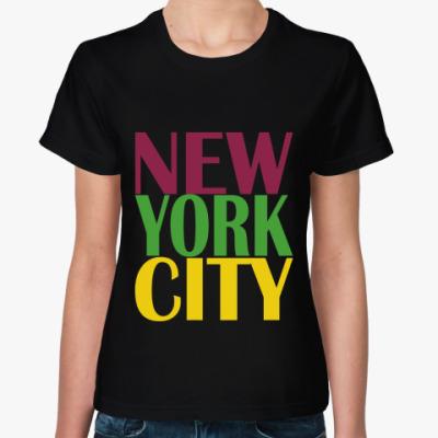 Женская футболка New York City. Glee