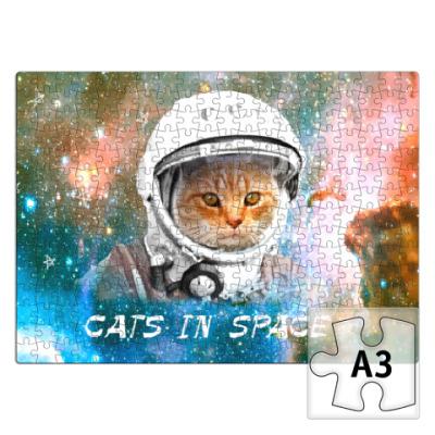 Пазл котейка космонавт