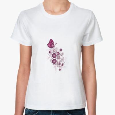 Классическая футболка Бабочка PINK