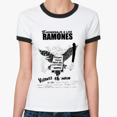Женская футболка Ringer-T Los Ramones  Ж()