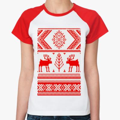 Женская футболка реглан Sweater