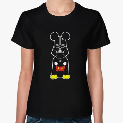 Женская футболка Микки Вейдер