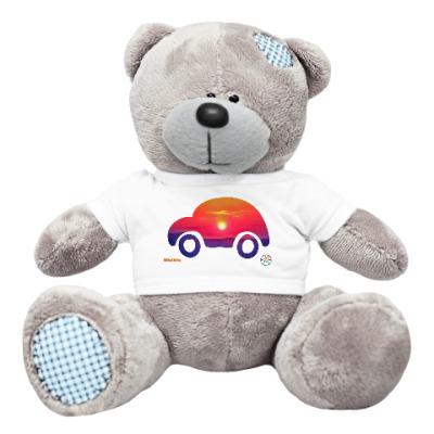 Плюшевый мишка Тедди Солнечная машинка
