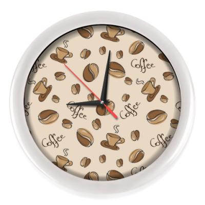 Настенные часы Кофейный узор