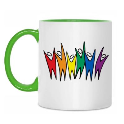 Кружка Rainbow people