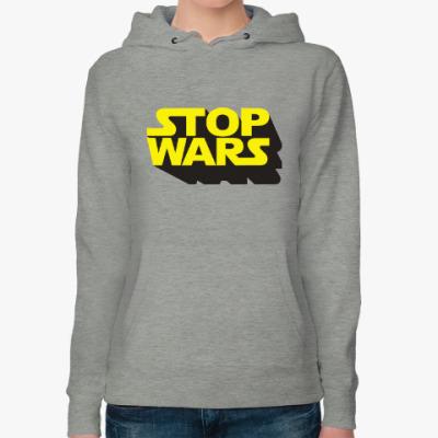 Женская толстовка худи Star Wars Stop Wars