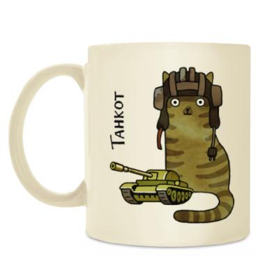 Кружка кот Танкот из серии 'Military cats'