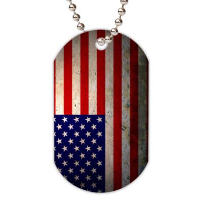 Жетон dog-tag Флаг Америки