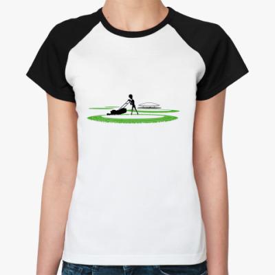 Женская футболка реглан Круги на полях