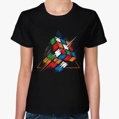 Женская футболка Кубик Рубика   Rubiks Cube