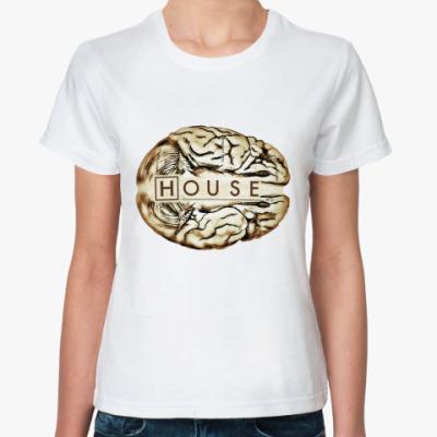 Классическая футболка House brain