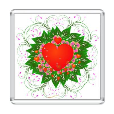 Магнит Heart Flower