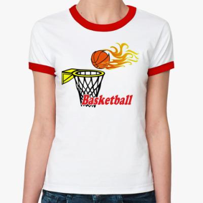 Женская футболка Ringer-T Баскетбол