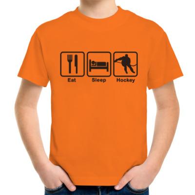 Детская футболка Жить хоккеем