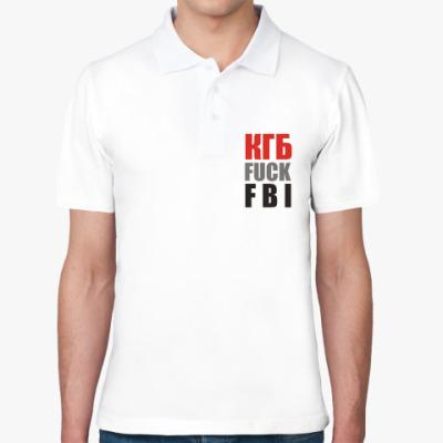 Рубашка поло КГБ fuck FBI