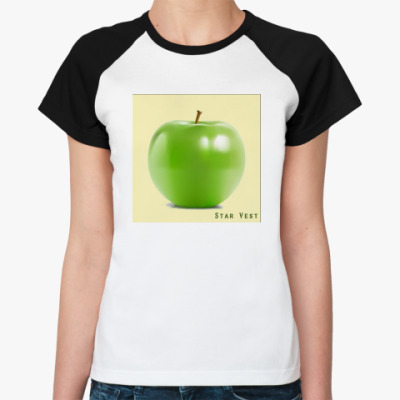 Женская футболка реглан  Apple