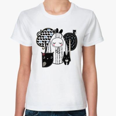 Классическая футболка Лесные зверушки
