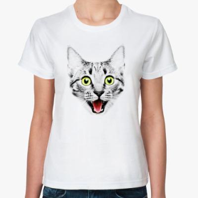 Классическая футболка Funny Cat