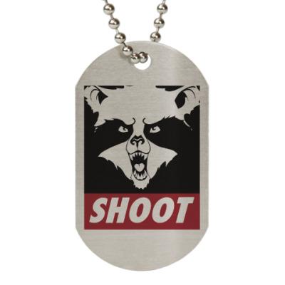 Жетон dog-tag Raccoon Shoot