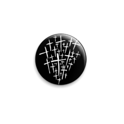 Значок 25мм кресты (Black)