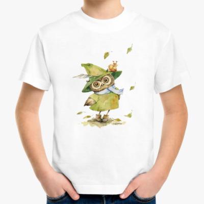 Детская футболка Сова в шляпе