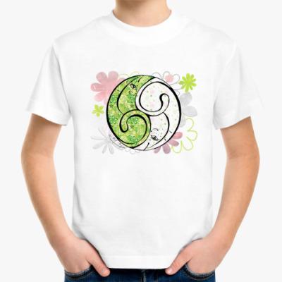 Детская футболка Коты 69-клевер и ромашки