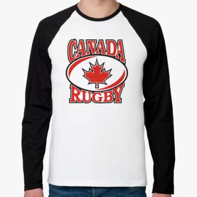 Футболка реглан с длинным рукавом Регби Канада