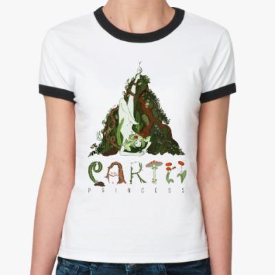 Женская футболка Ringer-T Ведьма земли