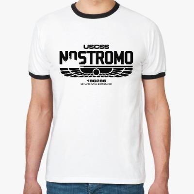 Футболка Ringer-T Чужой. Nostromo