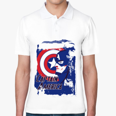 Рубашка поло  Капитан Америка