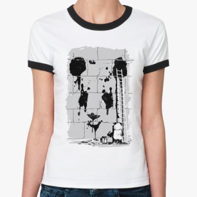 Женская футболка Ringer-T Пандализм