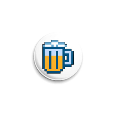 Значок 25мм  Пиво. ICQ-статус.