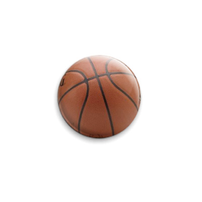 Значок 25мм Баскетбольный мяч
