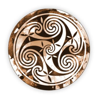 Костер (подставка под кружку) Кофейный трискель