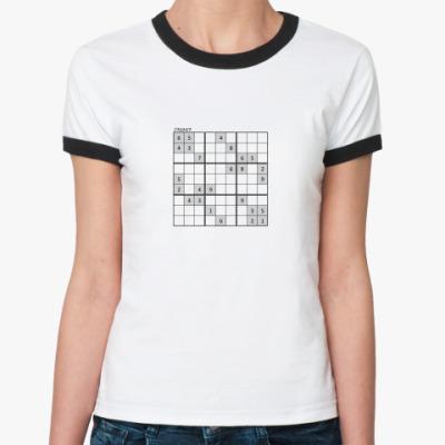 Женская футболка Ringer-T Судоку