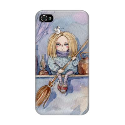 Чехол для iPhone 4/4s Ведьмочка