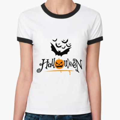 Женская футболка Ringer-T   Хеллоуин